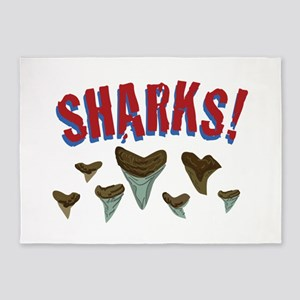 Sharks Teeth 5'x7'Area Rug